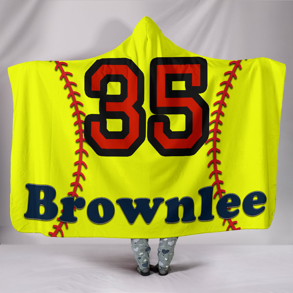 draft personalized hooded blanket 5541