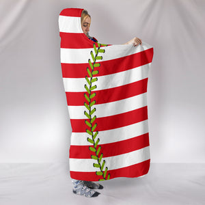 Baseball Flag Hooded Blanket