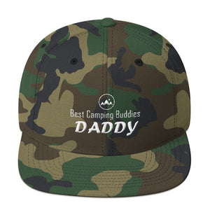 Daddy Best Camping Buddies Snapback Caps