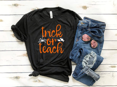 Trick Or Teach Funny Halloween Unisex t-shirt