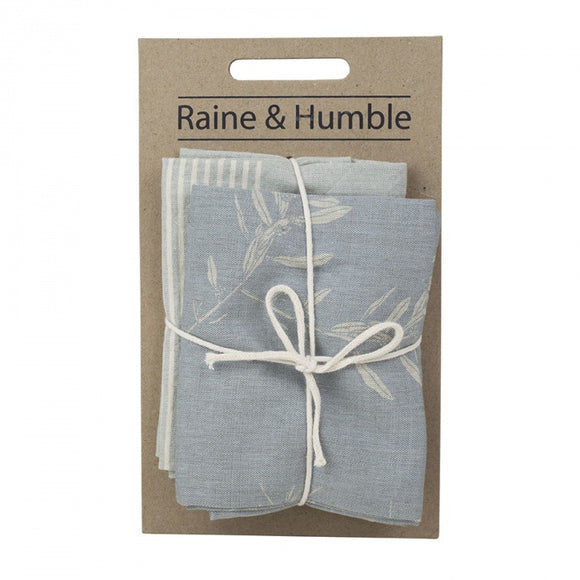 Raine & Humble Olive Grove Tea Towel Pack -Blue
