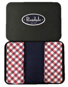 Rosdale Mens Tin of 3 Hankies - Design 2