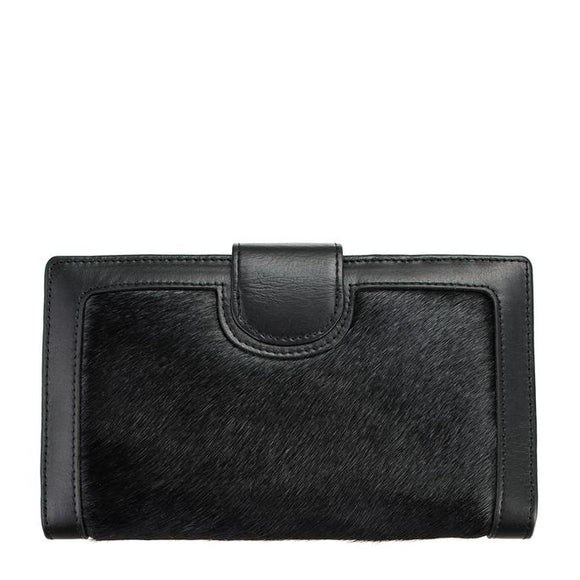 Status Anxiety Doris Wallet Black Hide