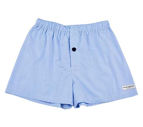 Bowral Boxer Shorts - Balmoral Blue Pin Check