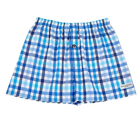 Bowral Boxer Shorts - Bombala Multi Blue Check