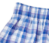 Bowral Boxer Shorts - Bendigo Blue, White & Pink Plaid