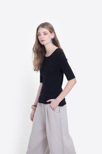 Elk Marika Knit Top - Black - 6 & 16