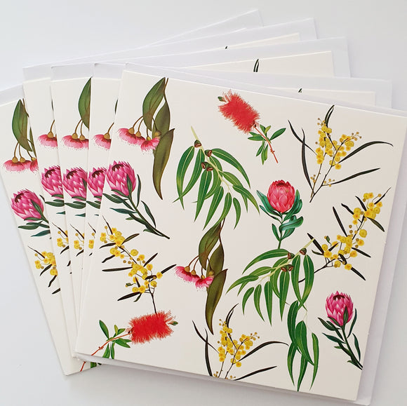 Alexander Gray Bush Flowers Greeting Cards - Pack of 5