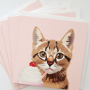 Alexander Gray Kitten Greeting Cards - Pack of 5