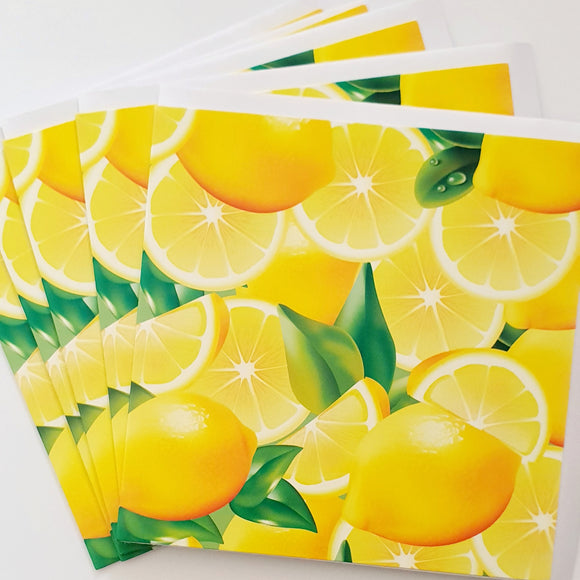Alexander Gray Lemons Greeting Cards - Pack of 5