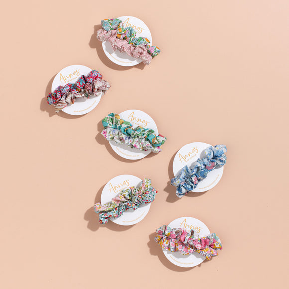 Anna's of Australia Liberty Print Scrunchie Set - Various Designs
