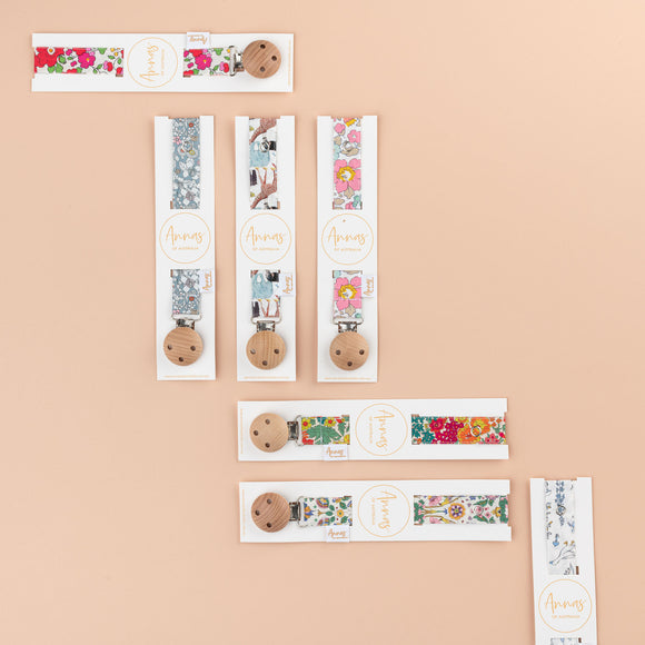 Anna's of Australia Liberty Print Dummy Clip - Various Designs