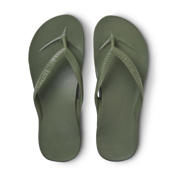 Archies Arch Support Thongs - Olive