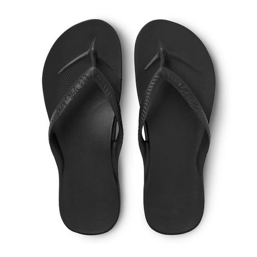 Archies Arch Support Thongs - Black