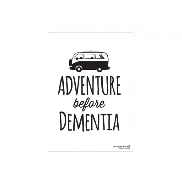 Annabel Trends Linen Tea Towel - Adventure B4 Dementia