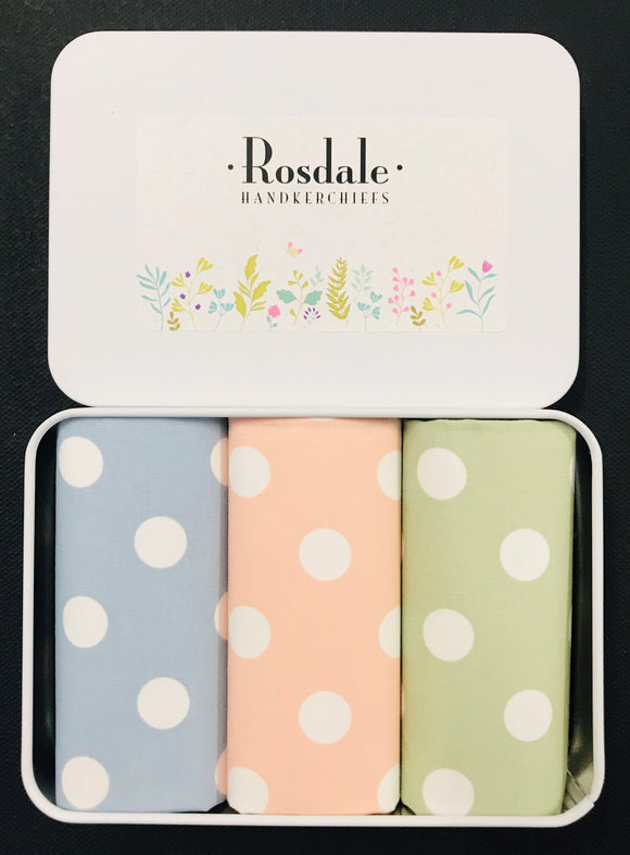 Rosdale Ladies Tin of 3 Hankies