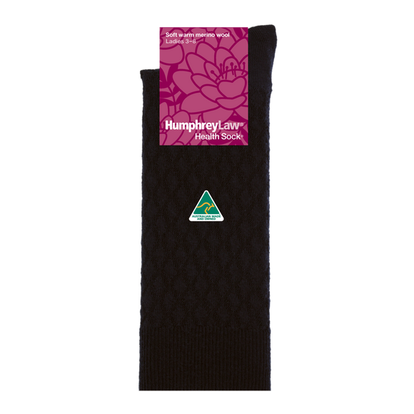 HumphreyLaw Ladies Merino Quilted Socks - 2 Colours