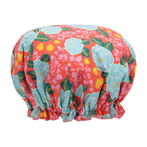 Annabel Trends Fabric Shower Cap - Peonies