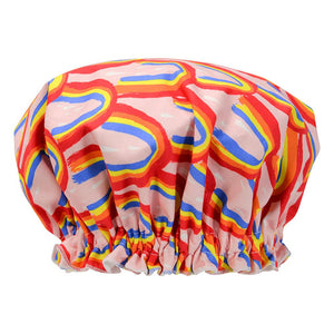 Annabel Trends Fabric Shower Cap - Rainbow