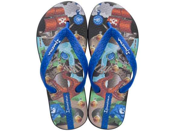 Ipanema Temas XI Kids Thongs Black/Blue - Size US 7