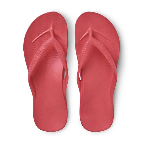 Archies Arch Support Thongs - Coral