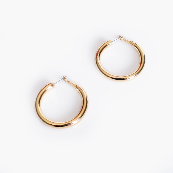 Adorne Mickey Midi Tube Hoop Earrings - Various Colours
