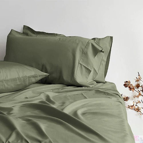 Canningvale Alessia Bamboo Cotton Sheet Set - DB - 2 Colours