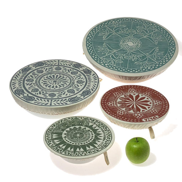 Spaza Dish and Bowl Cover Set of 4 - Safari
