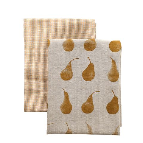 Raine & Humble Pear Tea Towel Pack- Mustard