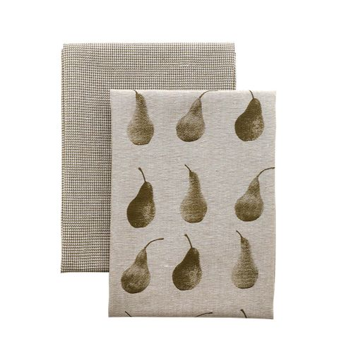 Raine & Humble Pear Tea Towel Pack - Khaki Green