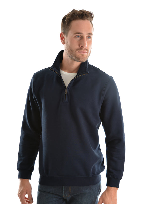 Hard Slog Mens 1/4 Zip Fleece Top Dark Navy - XS & 4XL