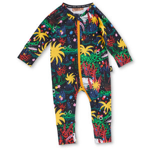 Kip & Co Swamp Organic Zip L/S Romper