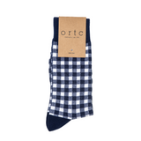 Ortc Navy Gingham Socks