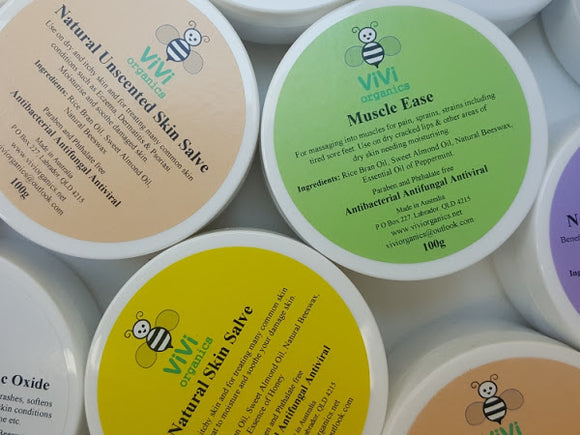 Vivi Organics Natural Beeswax Skin Salve Moisturising Balm  - Essense of Honey