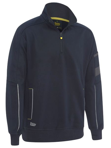 Bisley 1/4 Zip Work Fleece Pullover - Navy