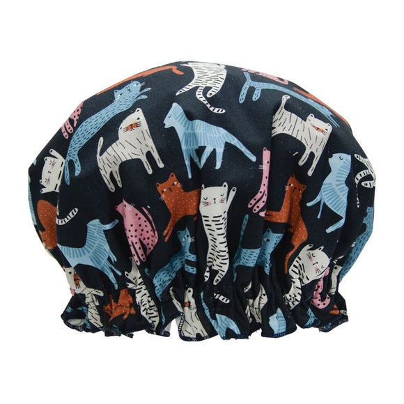 Annabel Trends Fabric Shower Cap - Cat Mix