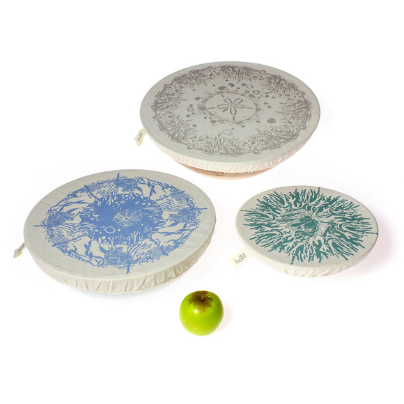 Halo Large Dish and Bowl Cover Set of 3 - Beach House