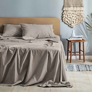 Canningvale Vintage Softwash Sheet Set - QB - Various Colours