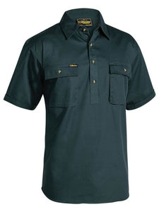 Bisley Closed Front Cotton Drill Work Shirt S/S