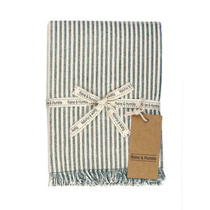 Raine & Humble Abby Stripe Tablecloth - Olive