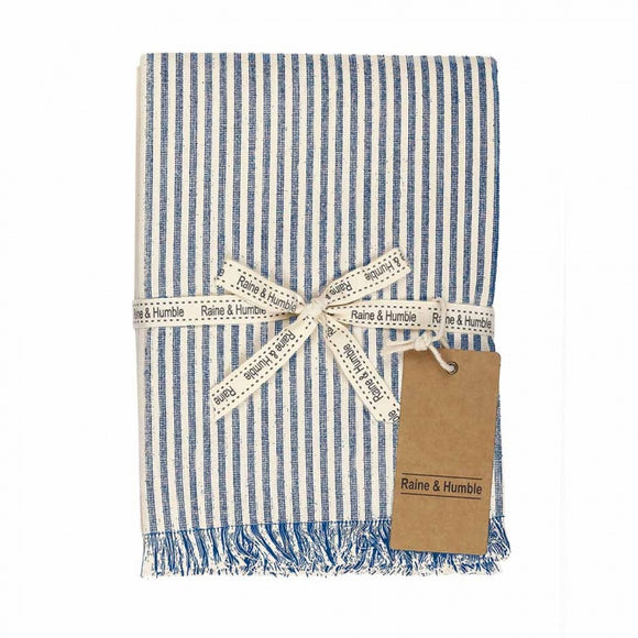 Raine & Humble Abby Stripe Tablecloth -Powder Blue