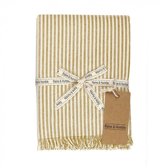 Raine & Humble Abby Stripe Tablecloth - Mustard