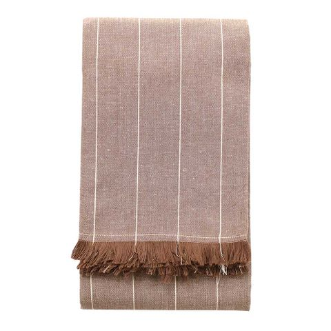 Raine & Humble Wild Stripe Tablecloth - Taupe