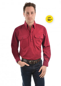 Thomas Cook Unisex Heavy Drill Work Shirt - Red
