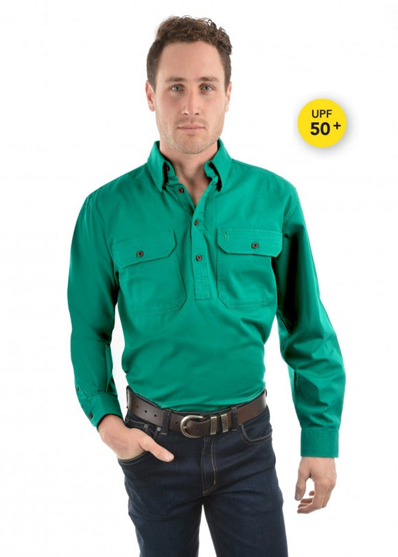 Thomas Cook Unisex Heavy Drill Work Shirt - Bright Green