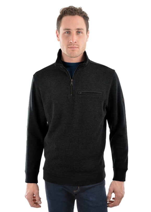 Thomas Cook Mens Murray 1/4 Zip Neck Jumper - Graphite