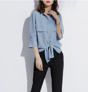 Marvina Bow Tie Front Blouse