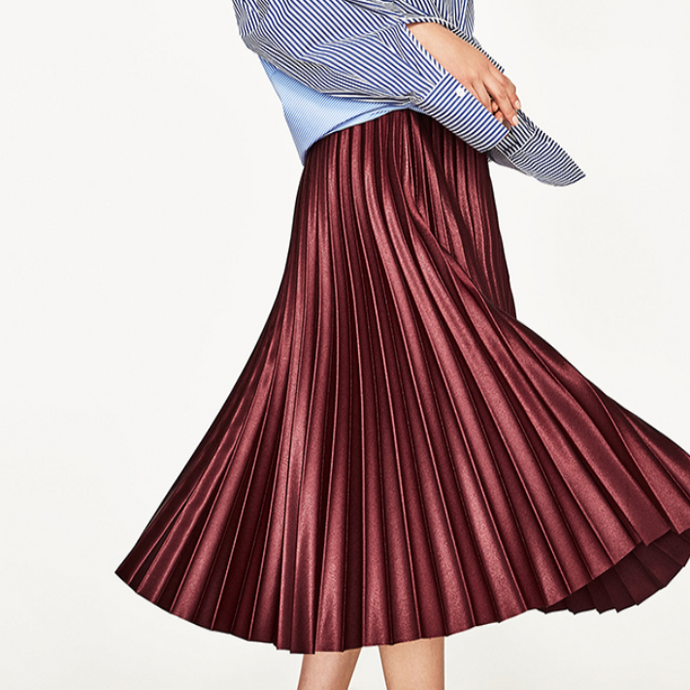 Keira Pleated Midi Skirt