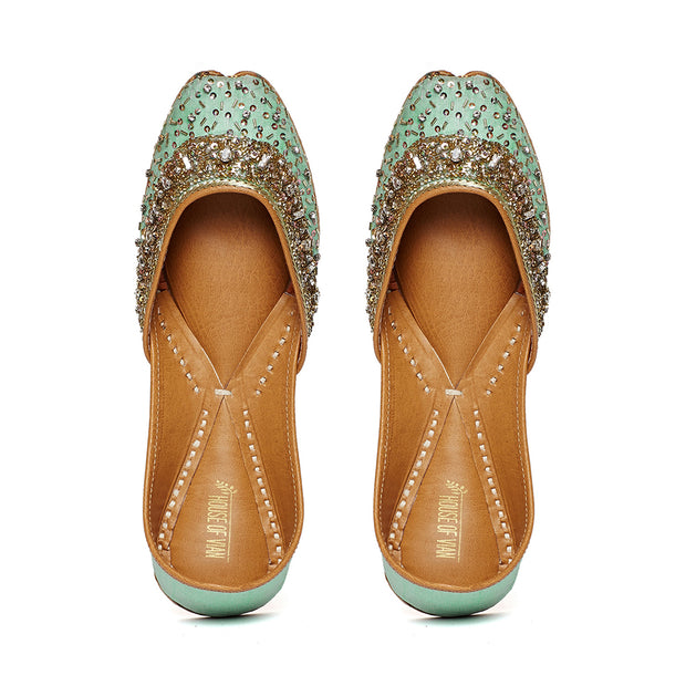 Tiara Mint Juttis (Made to Order)