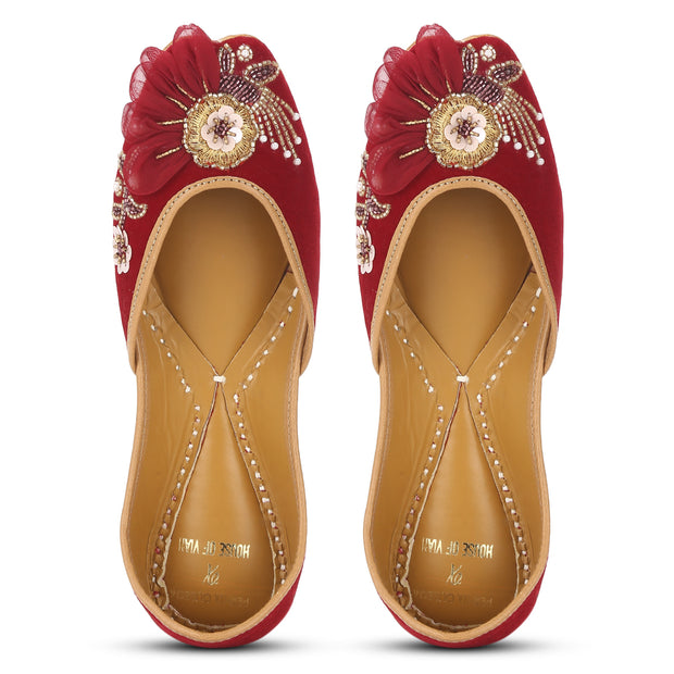 Red Anarkali Juttis [ PQB x Vian ]